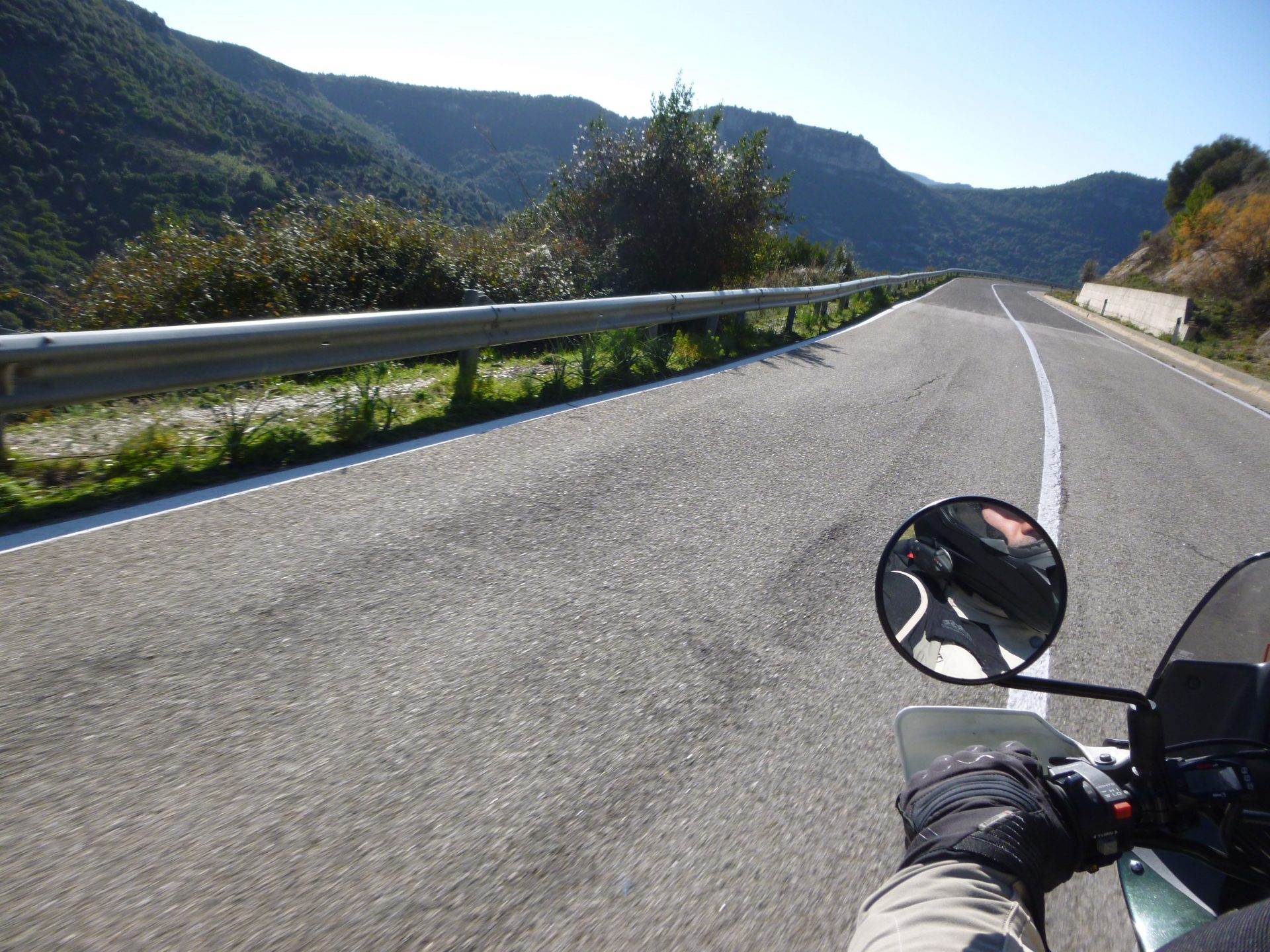 Sardinia, on motorcycle